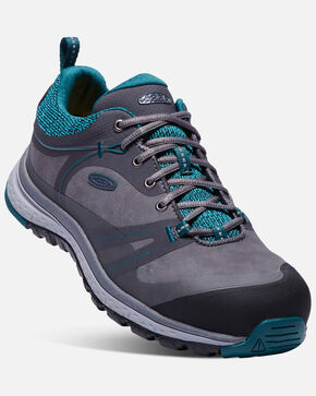 Keen Women's Sedona Pulse Work Shoes - Aluminum Toe, Black, hi-res