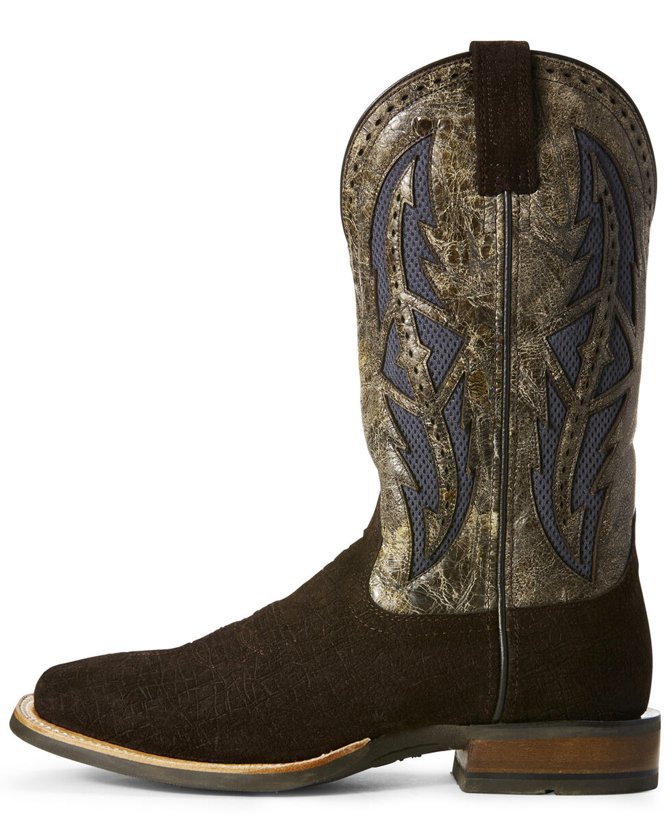 Ariat Men's Cowhand VentTEK Western Boots - Wide Square Toe, Chocolate, hi-res