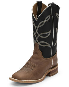 Justin Women's Kenedy America Western Boots - Wide Square Toe, Brown, hi-res