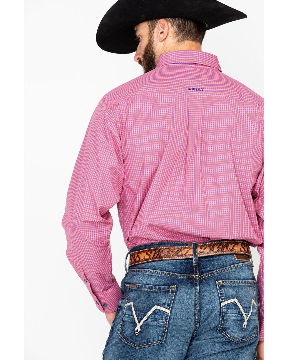 Ariat Men's Tesky Plaid Long Sleeve Western Shirt, Coral, hi-res