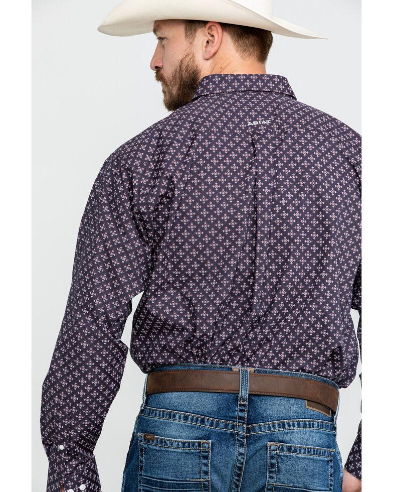 Ariat Men's Wrinkle Free Cleaves Geo Print Long Sleeve Western Shirt - Big , Grey, hi-res