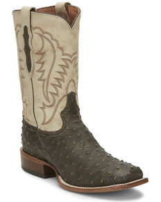 Tony Lama Men's Augustus Saddle Western Boots - Square Toe, Brown, hi-res
