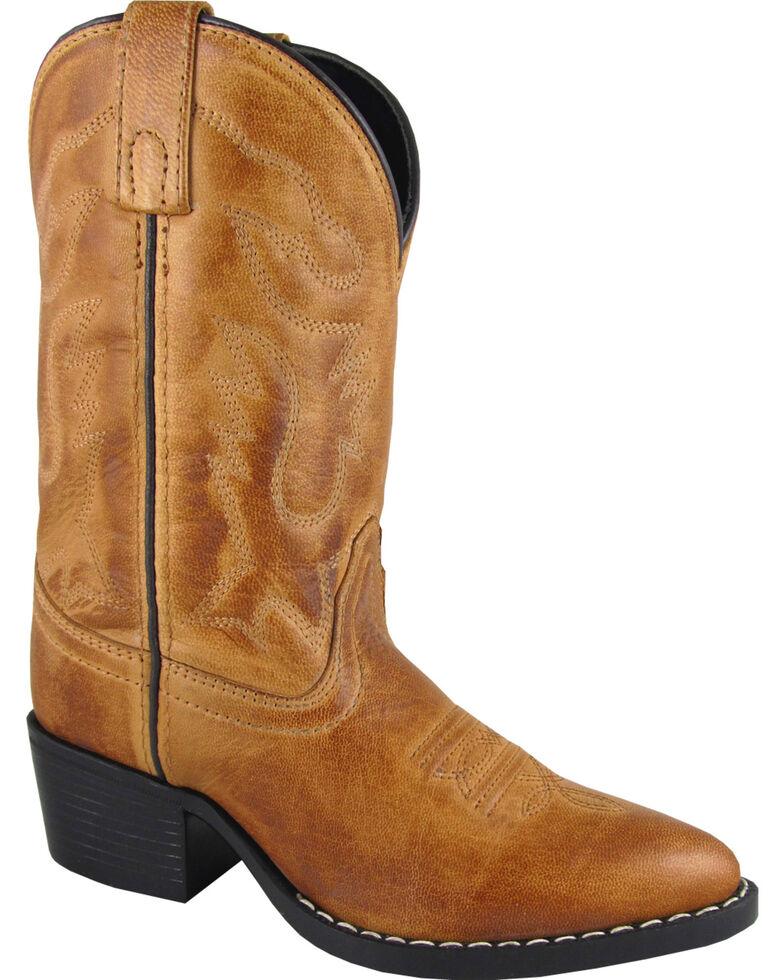 Smoky Mountain Youth Boys' Dakota Western Boots - Medium Toe, Tan, hi-res