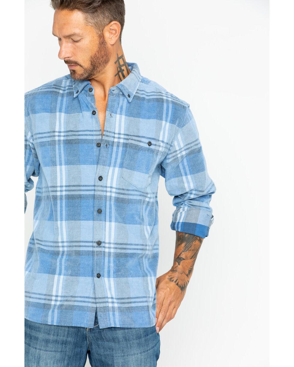 North River Men's Large Plaid Corduroy Shirt, Blue, hi-res