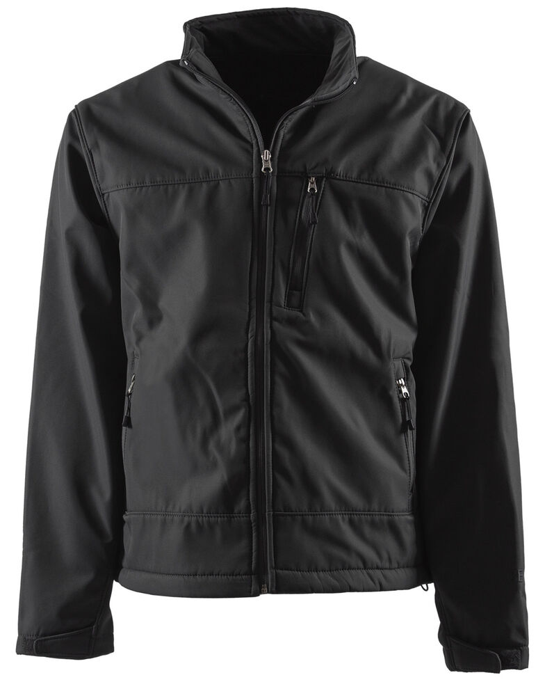 Berne Men's Eiger Softshell Work Jacket, Black, hi-res