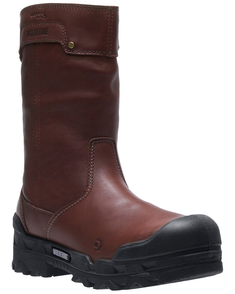 Wolverine Men's Warrior Carbonmax Western Work Boots - Composite Toe, Brown, hi-res