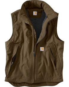 Carhartt Quick Duck Jefferson Vest, Brown, hi-res