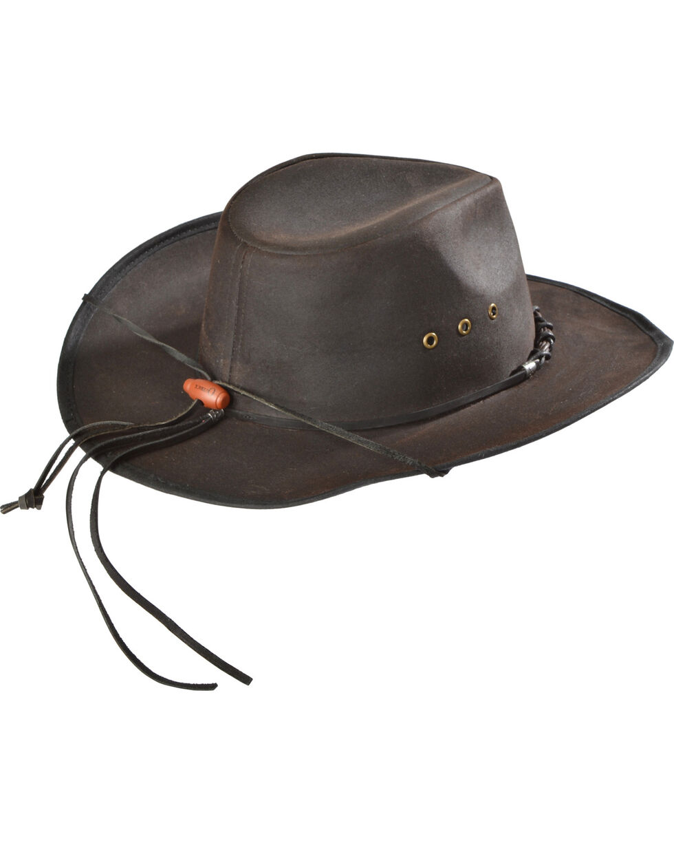 Outback Unisex Bootlegger Hat, Brown, hi-res