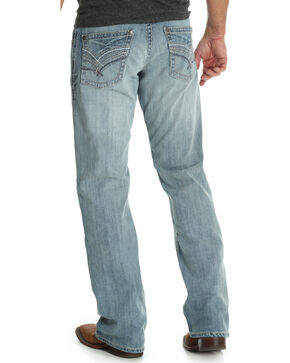 Wrangler Rock 47 Men's Blue Relaxed Fit Jeans - Boot Cut , Blue, hi-res