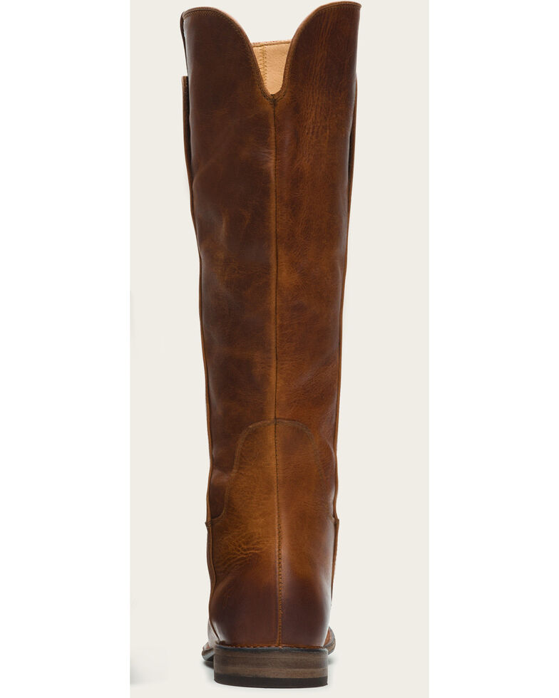 7a64fef84675 Frye Women s Cognac Paige Tall Riding Boots - Round Toe