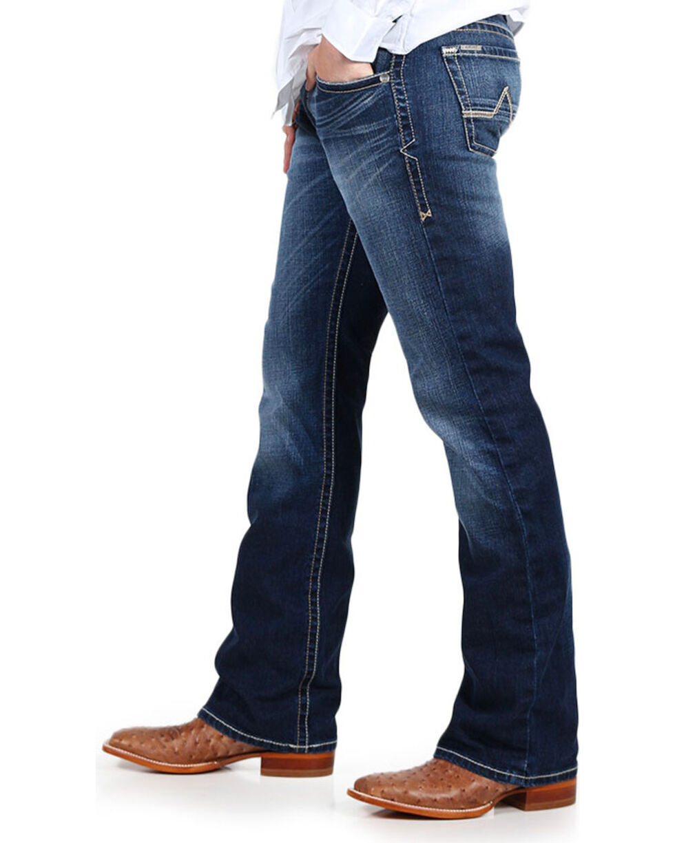 Ariat Men's M7 Rocker Boot Cut Jeans, Blue, hi-res