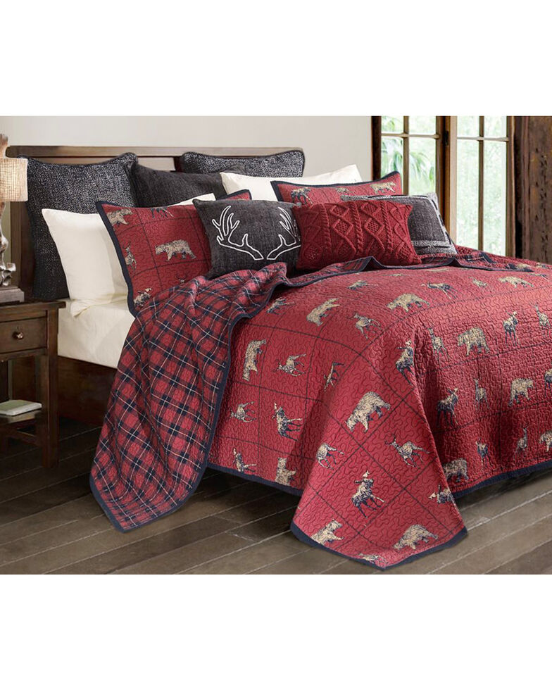 HiEnd Accents Woodland Plaid King Quilt Set, Multi, hi-res