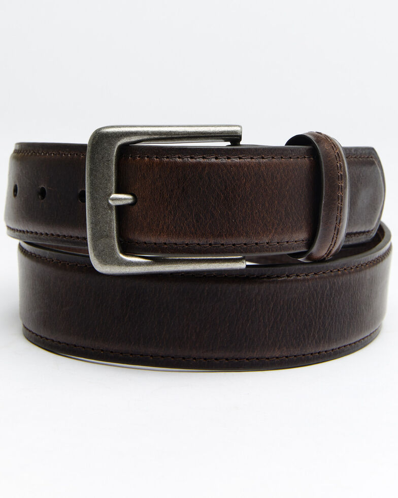 Hawx Men's Double Stitched Loop Work Belt, Brown, hi-res