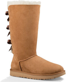 UGG Women s Chestnut Bailey Bow Tall II Boots - Round Toe e8871c2051186