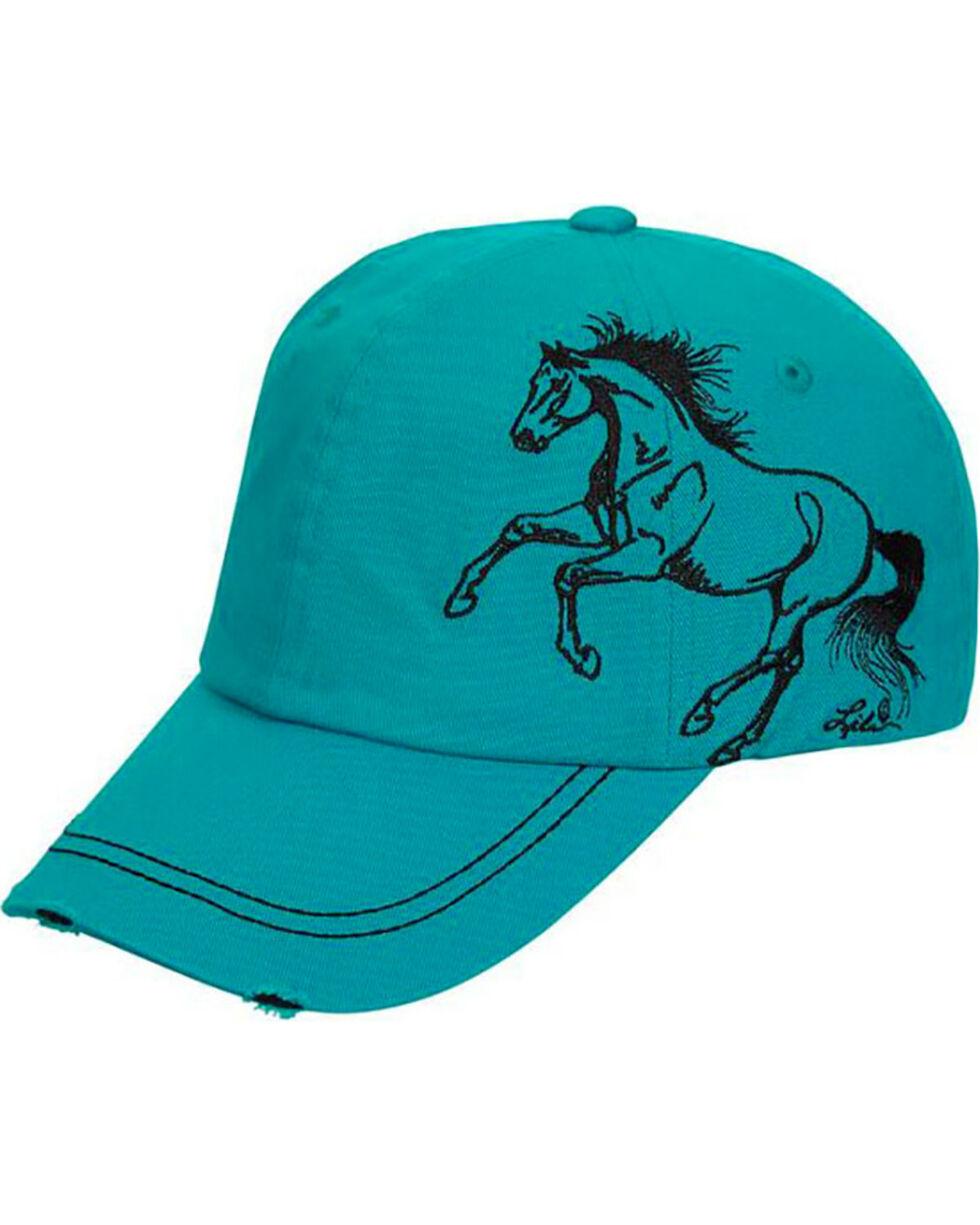 Western Express Women's Turquoise Horse Vintage Baseball Cap , Turquoise, hi-res
