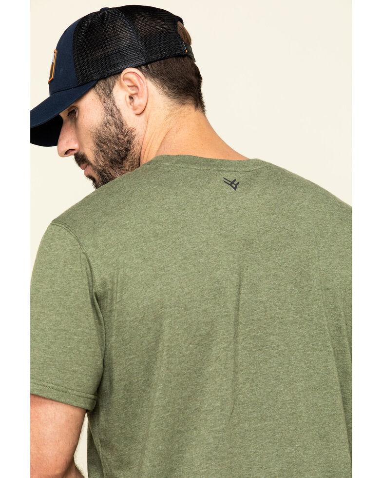 Hawx Men's Olive Solid Pocket Short Sleeve Work T-Shirt - Big , Olive, hi-res