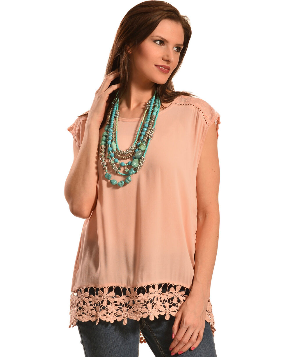 Others Follow Women's Jessian Top, Peach, hi-res