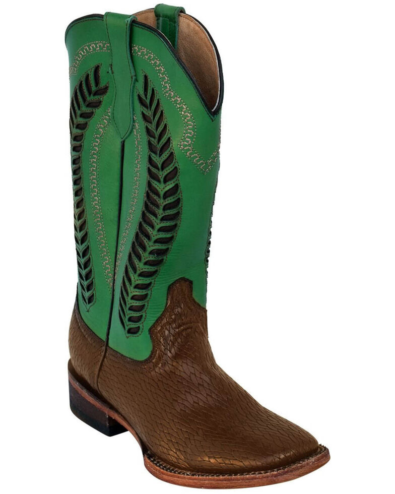 Ferrini Women's Raider Western Boots - Square Toe, Chocolate, hi-res