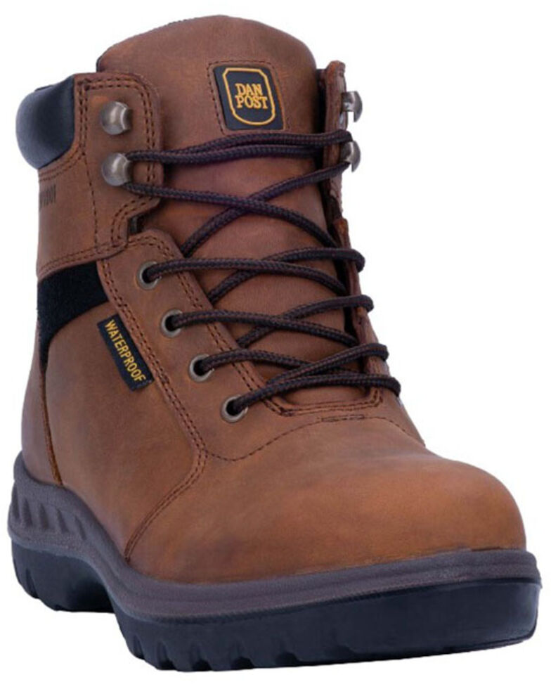 Dan Post Men's Burgess Waterproof Work Boots - Soft Toe, Tan, hi-res