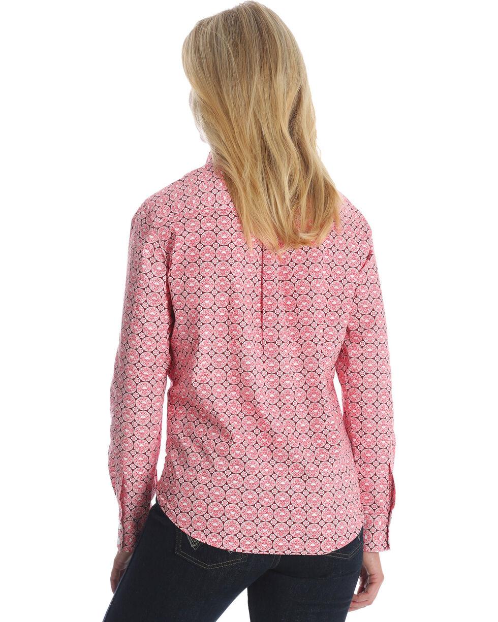 Wrangler Women's Peach George Strait Large Medallion Print Shirt , Multi, hi-res
