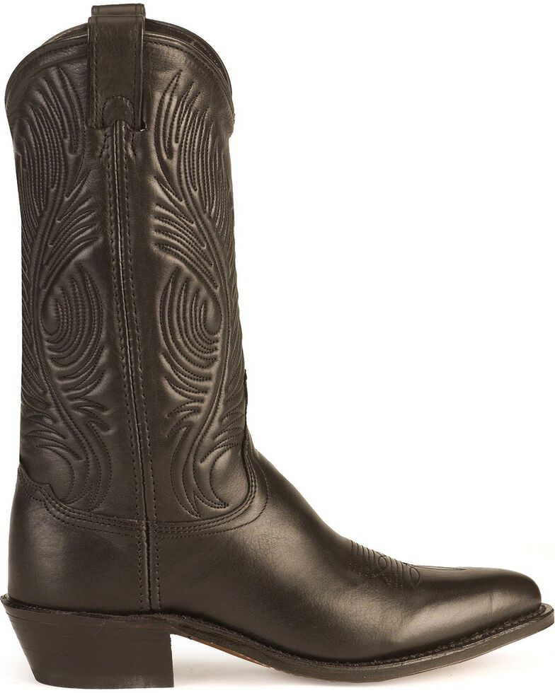 """Abilene Women's 11"""" Tooled Feather Western Boots, Black, hi-res"""