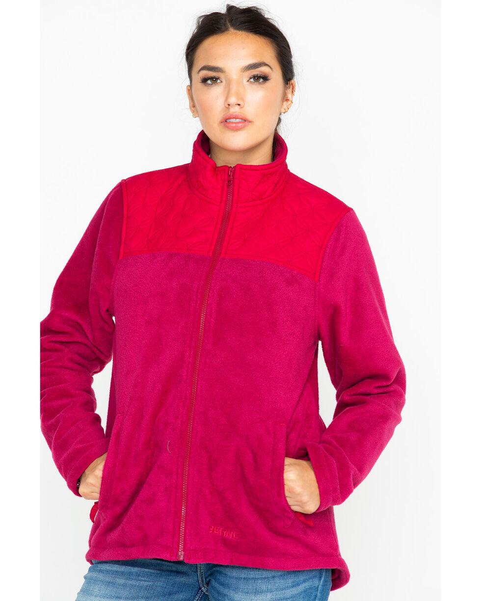 Berne Women's Trek Fleece Jacket, Red, hi-res