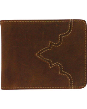 Cody James® Men's Bi-Fold Pass Case Wallet, Brown, hi-res