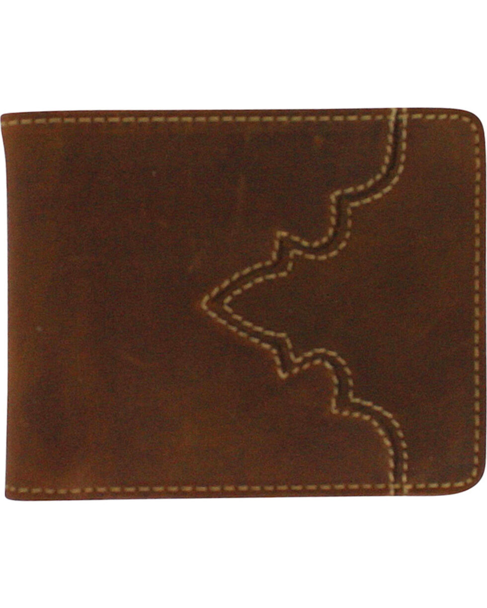 Cody James® Men's Bi-Fold Pass Case Wallet, Brown, hi-res