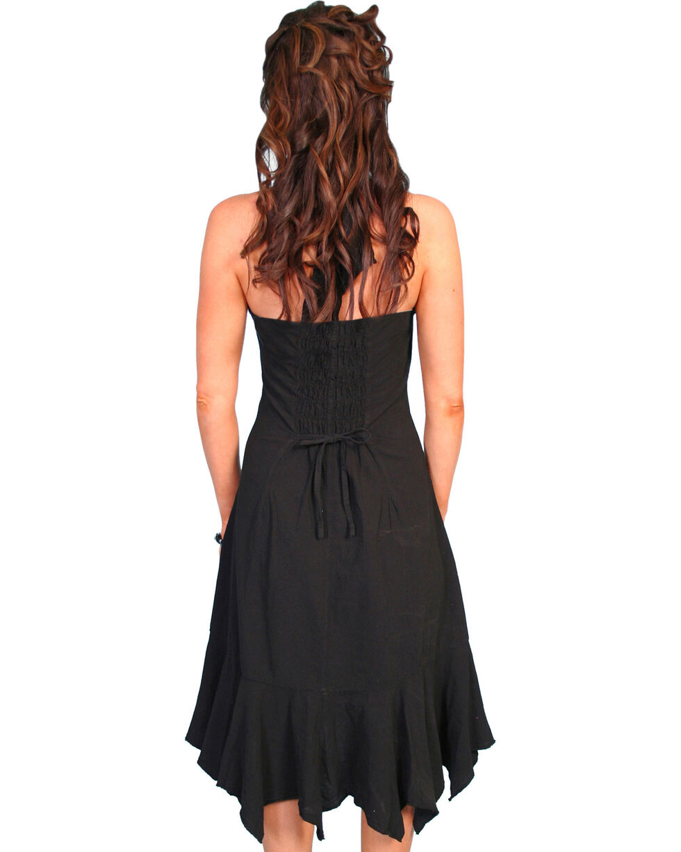 Scully Women's Ruffled Halter Dress, Black, hi-res