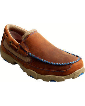 Twisted X Kids' Driving Mocs, Saddle Brown, hi-res