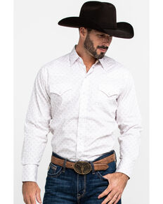 Ely Cattleman Men's Assorted Multi Geo Print Snap Long Sleeve Western Shirt , Multi, hi-res