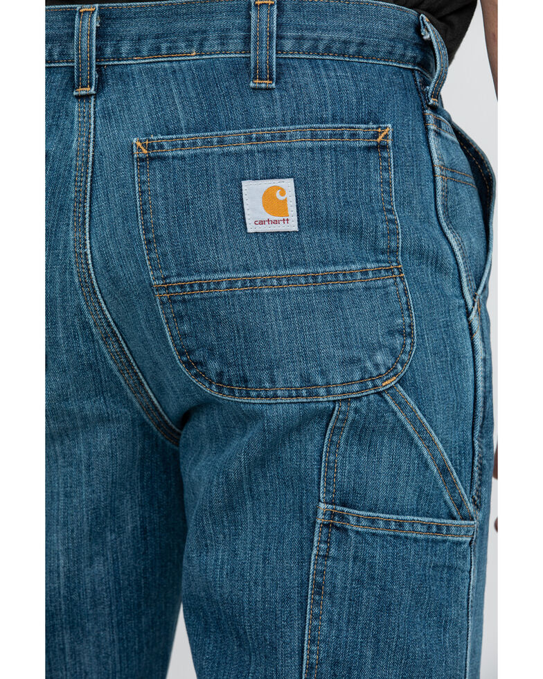 Carhartt Men's Holter Dungaree Relaxed Bootcut Work Jeans , Indigo, hi-res