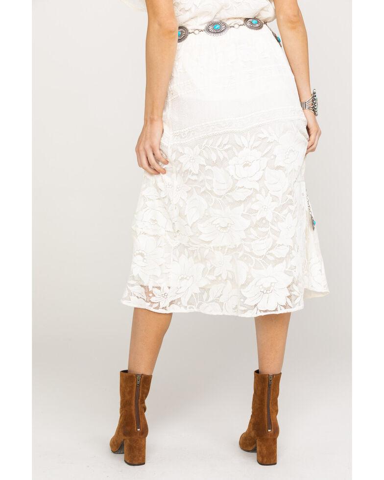 Show Me Your Mumu Women's Kellen Moonlight Roses Skirt , Cream, hi-res