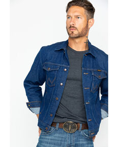Wrangler Men's Western Denim Jacket, Indigo, hi-res