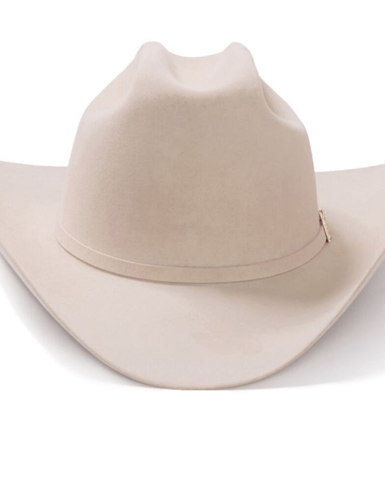 Stetson Men's El Patron Silverbelly Western Hat, Silver Belly, hi-res