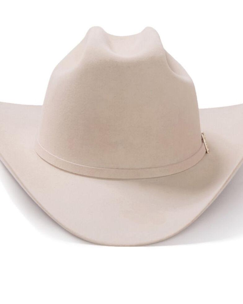 Stetson Men's El Patron Silverbelly Felt Western Hat, Silver Belly, hi-res
