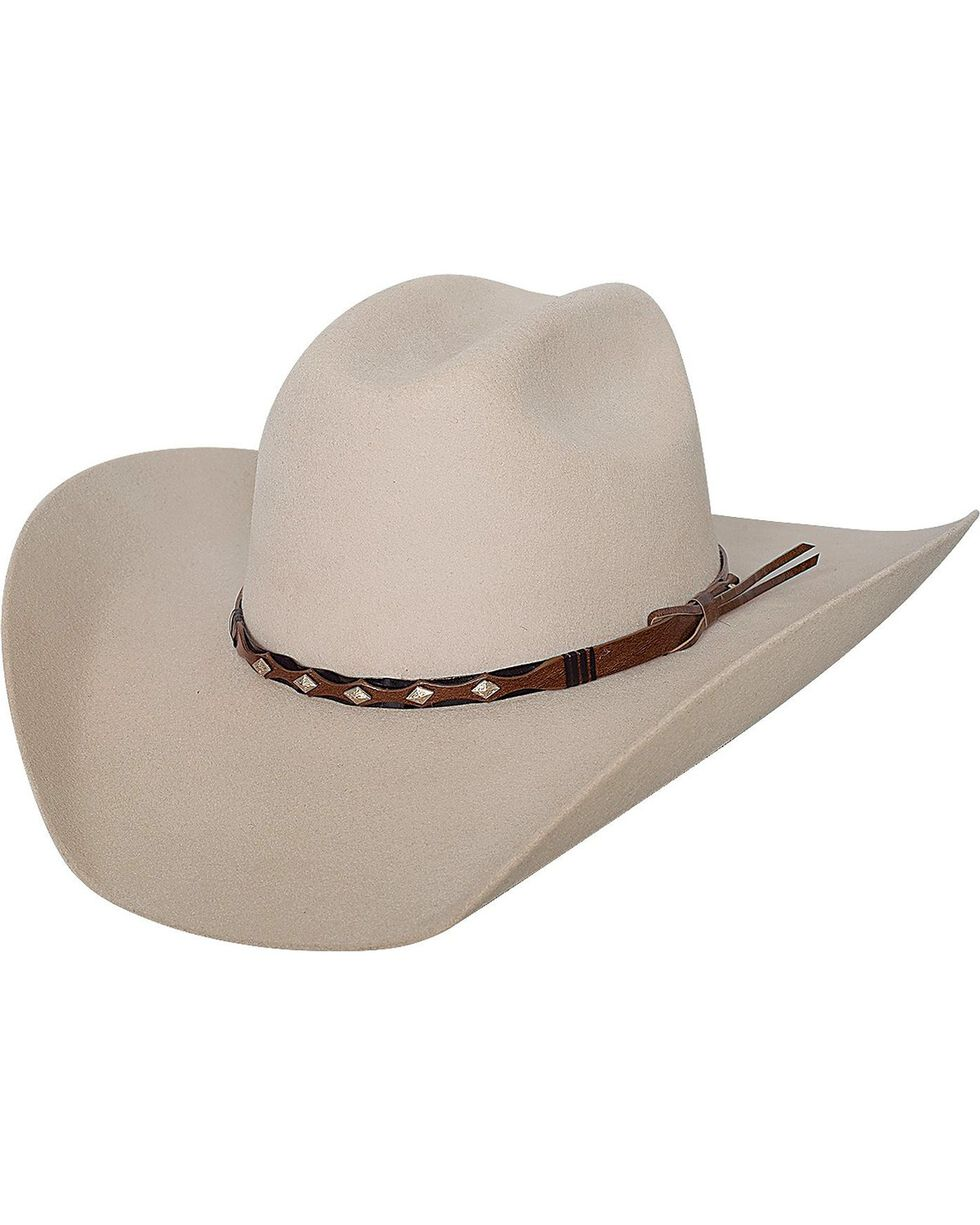 Bullhide Men's True West 8X Fur Blend Hat, Buckskin, hi-res