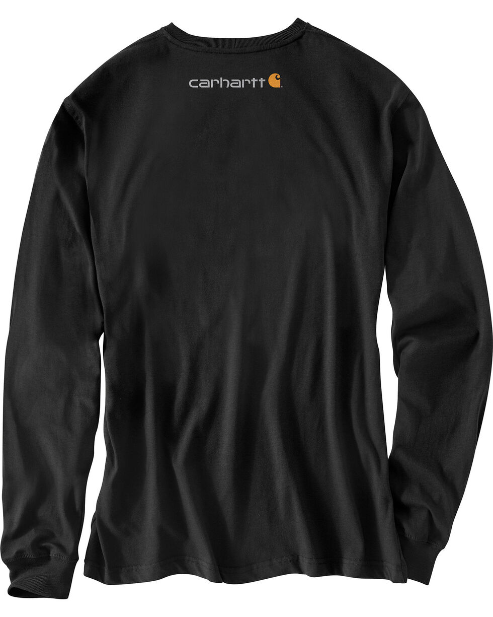 Carhartt Graphic Distressed Saw Long Sleeve T-Shirt , Black, hi-res