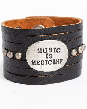 Idyllwind Women's Music is Medicine Black Cuff, Black, hi-res