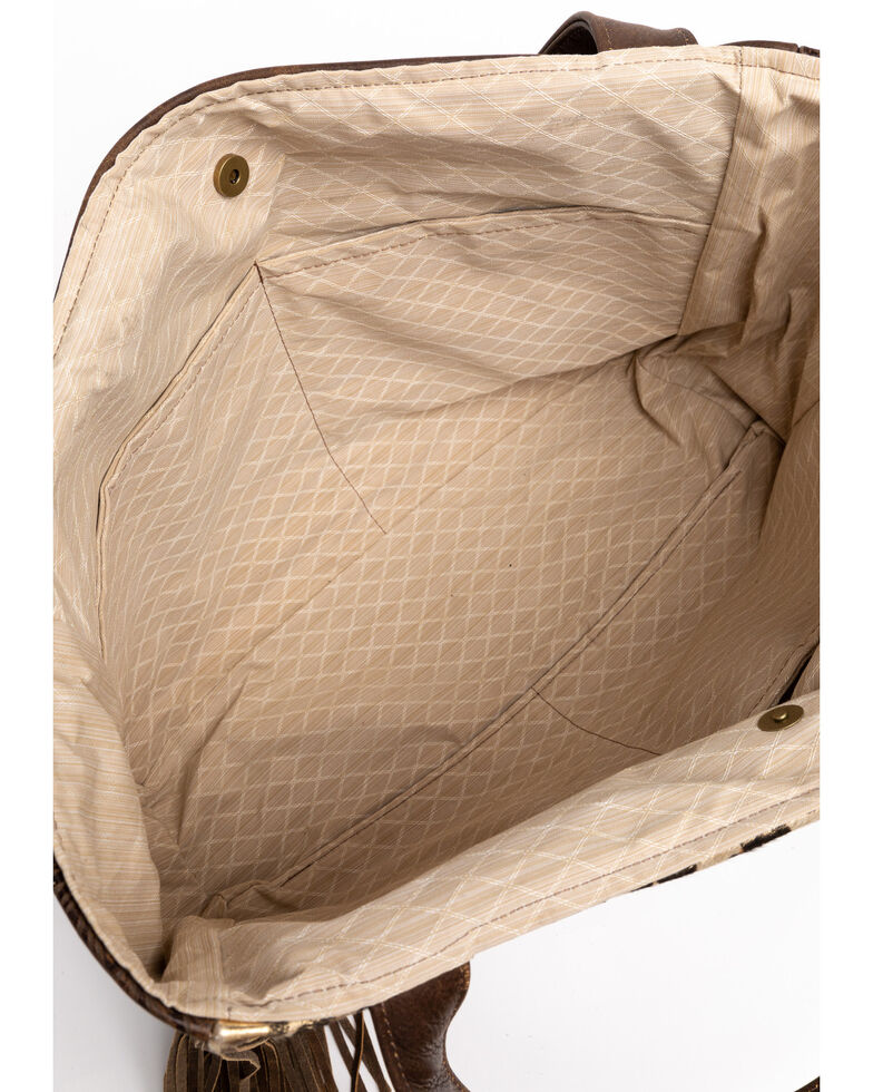 Keep It Gypsy Women's Stella Gold Leopard Large Tote Handbag , Brown, hi-res