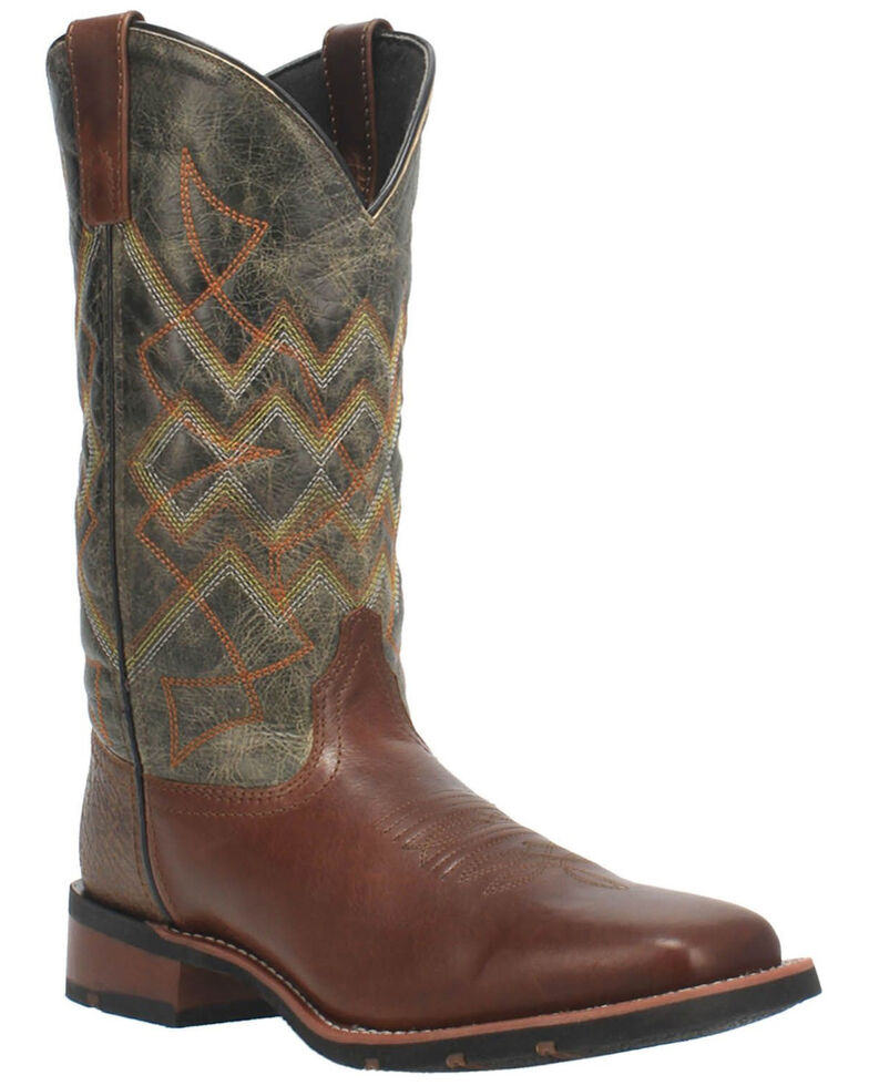 Laredo Men's Glavine Western Boots - Wide Square Toe, Brown, hi-res