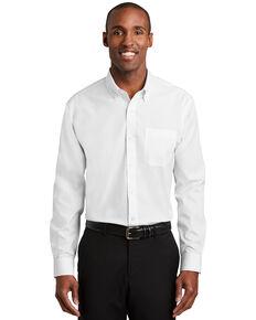 Red House Men's White Nailhead Non-Iron Long Sleeve Work Shirt , White, hi-res