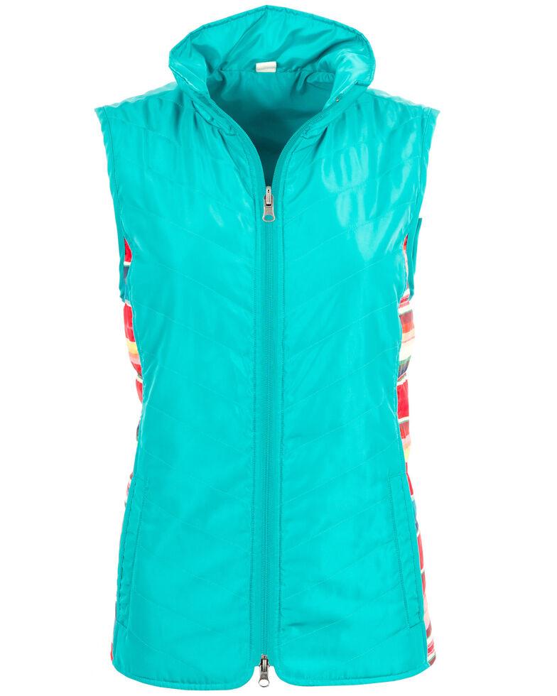 STS Ranchwear Women's Gracie Vest , Turquoise, hi-res