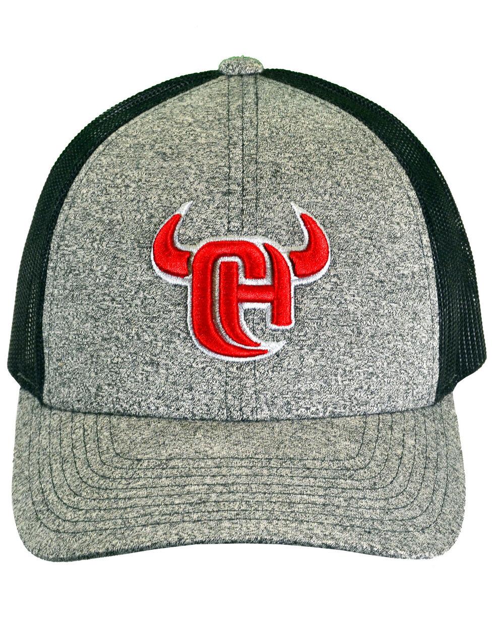 Cowboy Hardware Men's Grey 3D Logo Trucker Cap, Grey, hi-res