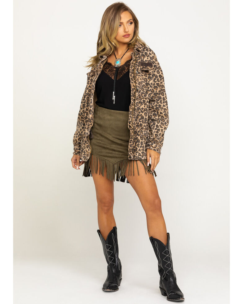 Free People Women's Seize The Day Leopard Print Jacket, Leopard, hi-res