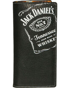 Jack Daniel's Men's Black Rodeo Wallet , Black, hi-res