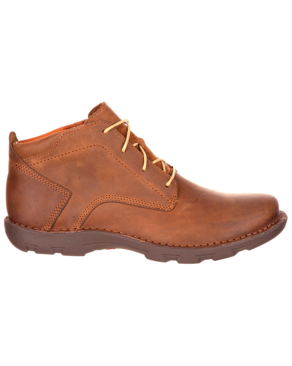 Rocky Men's Cruiser Casual Round Toe Lacer Boots, Brown, hi-res