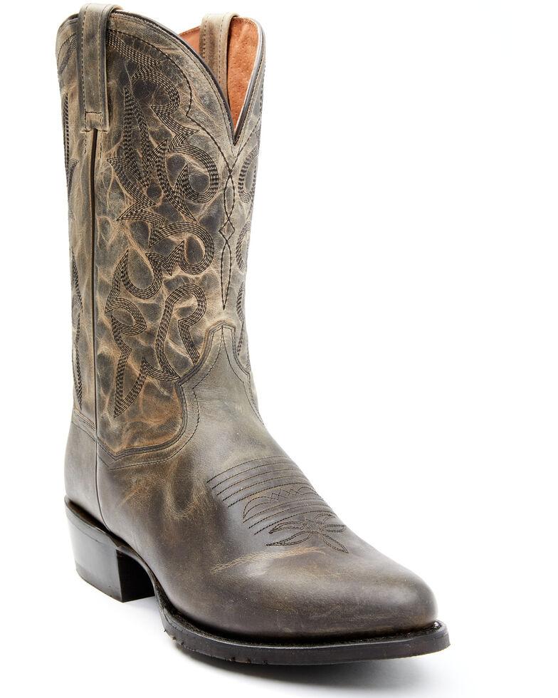 Dan Post Men's Grey Cowboy Western Boots - Round Toe, Grey, hi-res