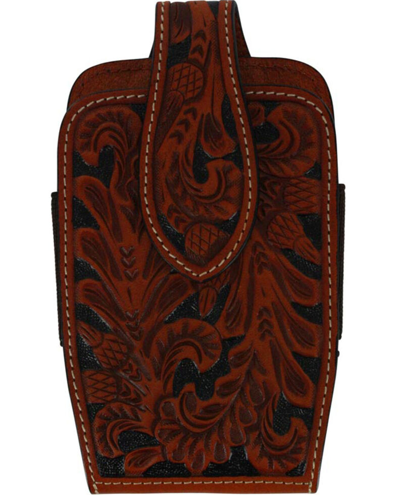 Cody James Men's Leather Tooled Cell Phone Case , Natural, hi-res