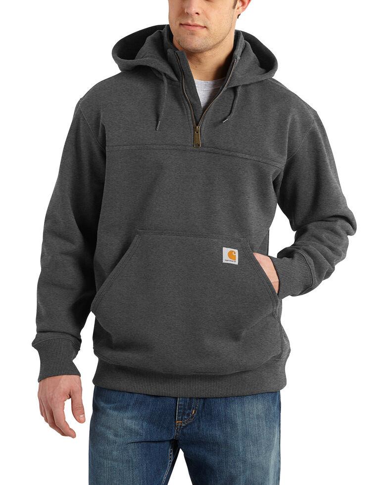 Carhartt Rain Defender Paxton Hooded Zip Mock Sweatshirt, Charcoal, hi-res